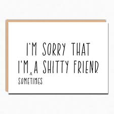 im sorry card 045 ty friend funny apology card funny sorry card i m sorry cards card for apology folded greeting card with envelope blank inside