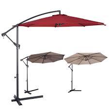 10' Patio Outdoor Sunshade Hanging Umbrella