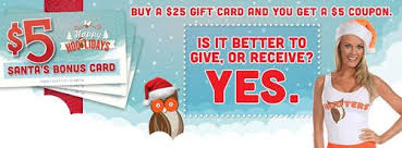 hooters spreads holiday cheer with gift card bonus offers