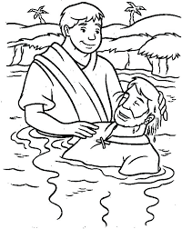 Jesus Baptism Coloring Page Pages Children S Bible Activities John