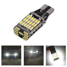 <b>10x</b> Universal W16W <b>T15 921</b> Rear 45 SMD LED Canbus ...