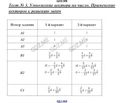 ГДЗ контрольные работы по геометрии класс Рурукин Умножение вектора на число Применение векторов к решению задач