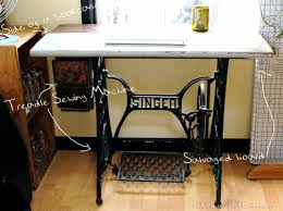 diy treadle sewing machine desk with drawers