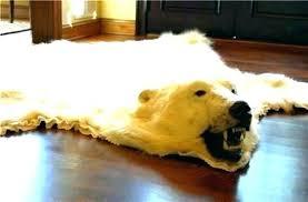 polar bear rug faux polar bear rug real bear skin rug polar bear skin rug polar