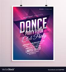 Party Flyer Dance club party flyer template Royalty Free Vector Image 1