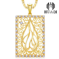 whole dotshe luxury hollow pendant necklace women men jewelry multiple small crystals gift big leaves gold color big square necklaces circle pendant