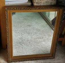 large solid wood gold 53x55 rectangle