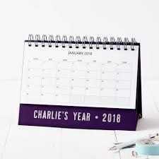 personalised name 2018 desk calendar