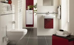 contemporary bathroom colors. White Modern Bathroom Paint Colors Alongside Red Accent Wash Basin And Gray Floor Tiles Contemporary