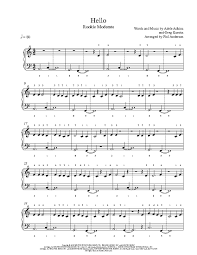 hello free piano sheet music hello by adele piano sheet music rookie level
