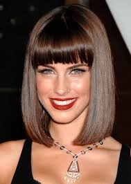 Hairstyles With Blunt Fringe Kelly Osbourne Hairstyles Shoulder Length Haircut With Blunt Bangs