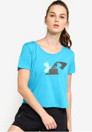 Buy Under Armour UA Run Graphic <b>Crop</b> Tee Online | ZALORA ...