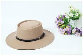 spring summer winter fedora porkpie bowler wide brim hat flat top cap with leather belt for