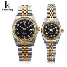 coloured watches for men promotion shop for promotional coloured new mens watches top brand luxury men business wrist watches lovers full steel women dress watch waterproof relogio masculino