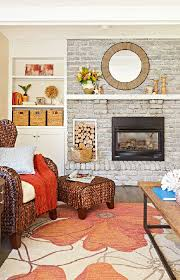 lighten a dark brick fireplace with whitewash thin white paint more or less to adjust