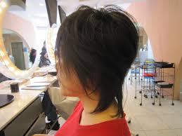 40代ショートヘア 襟足を伸ばしてムディアムヘアに 40代50代60代髪型