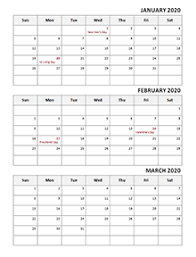 2020 Calendar With Us Holidays 2020 Calendar Templates Download Printable Templates With