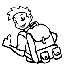 Small Picture A Boy Wear Cool Backpack Coloring Pages A Boy Wear Cool Backpack