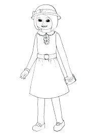 American Girl Coloring Pages Printable Free American Girl Coloring