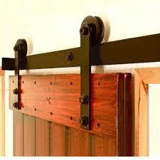 rustic 80 barn door sliding rail set 2m