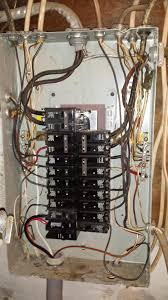 is the wiring in this sub panel correct home improvement stack this is a temporary connection to the sub panel using double 60 amp breaker 6 gauge wire new 200 amp service will connect the new box and the old box
