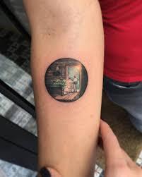 Wonderful Tattoos Of Sceneries In Circles By Eva Krbdk