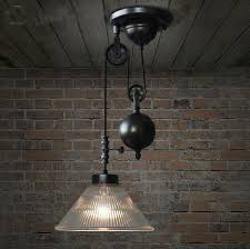 retractable lighting. Vintage Loft Rh Lamp Retractable Glass Pulley Lifting Pendant Light Industrial Bar Counter Home Decoration Lighting S