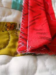 Hand Sewn Binding Tutorial & Save Close-up of Binding Adamdwight.com
