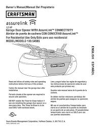 Craftsman 54985 Owners Manual Manualzz Com