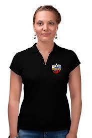 """Рубашка Поло """"Россия"""" #1471185 от gopotol - <b>Printio</b>"""