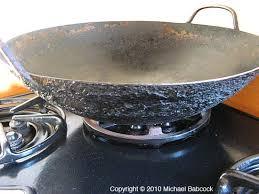 wok on stovetop