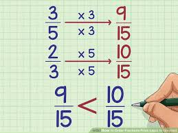 Fractions Least To Greatest Chart 3 Ways To Order Fractions From Least To Greatest Wikihow
