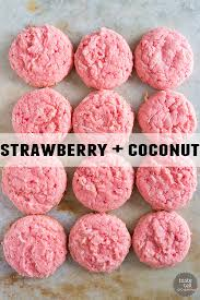 cake mix cookies 12 ways strawberry cake mix coconut