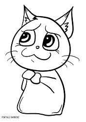 Disegni Di Gatti Da Colorare Portale Bambini