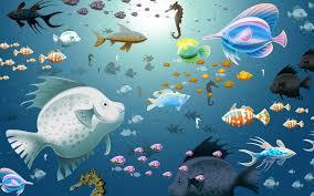 Fish, aquarium, virtual, animated ...