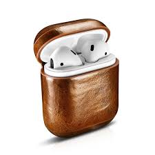 icarer case for airpods case vintage top genuine leather case for apple airpods oil wax leather protective case cover