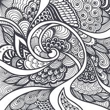 Small Picture Abstract pattern or texture in Zen tangle Zen doodle style black