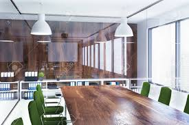 eco friendly corporate office. Unique Office Environment Friendly Style Office Interior With Glass And Wooden Walls  A Long Table Green To Eco Friendly Corporate Office