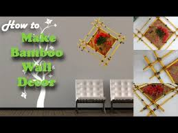bamboo wall decor idea diy idea for garden home green plants