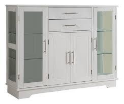 buffet with glass doors. Cabinet Buffet With Glass Doors, White Doors C