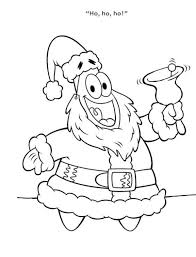 Patrick Star Christmas Santa Spongebob Coloring Page Boys Coloring