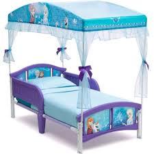 Disney Frozen Girls Canopy Bed Toddler Kids Beds Childrens Bedroom ...