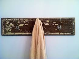 towel rack from old door decor lintel hooks disembled from basic 13