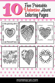 I haven't counted in a while and there actually might be closer to. Free Printable Valentine Coloring Pages Momma Can