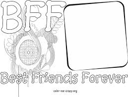 Best Friend Coloring Pages Bff Pages Adult