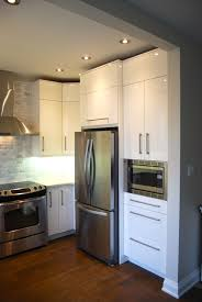 white cabinet doors. A Modern Custom Kitchen With High Gloss Warm White Cupboard Doors In Toronto Cabinet