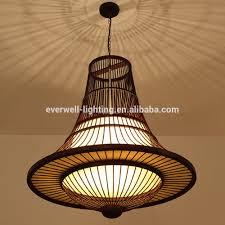 Oosterse Stijl Handgemaakte Lamp Pure Natuurlijke Bamboe Opknoping