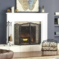 pier 1 fireplace screen scroll triple panel fireplace screen pier one tree fireplace screen