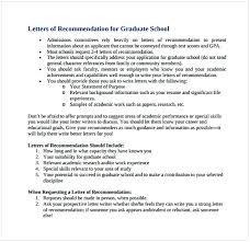 requesting letter of recommendation graduate school sample letter of recommendation for graduate school from