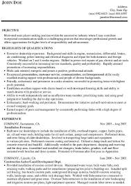 Sample Resume For Car Salesman Download Car Sales Resume Sample
